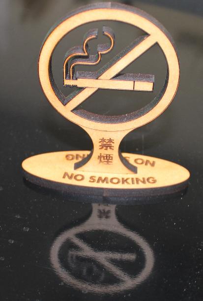 デスクトップ禁煙サイン