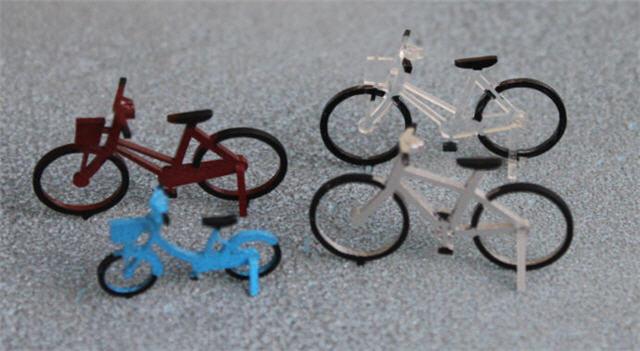 彩色1/50建築模型自転車