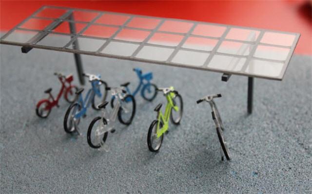 駐輪場模型、アクリル加工