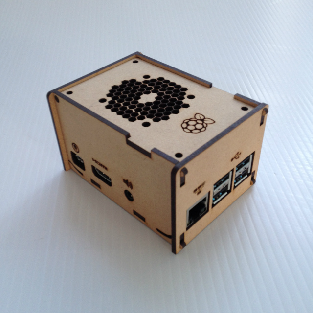 raspberry Pi 3 modelB MDFケース