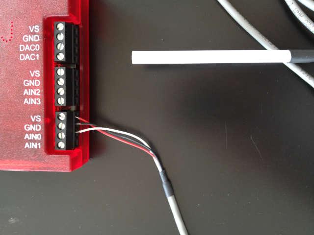 ラボジャック温度センサーデバイス