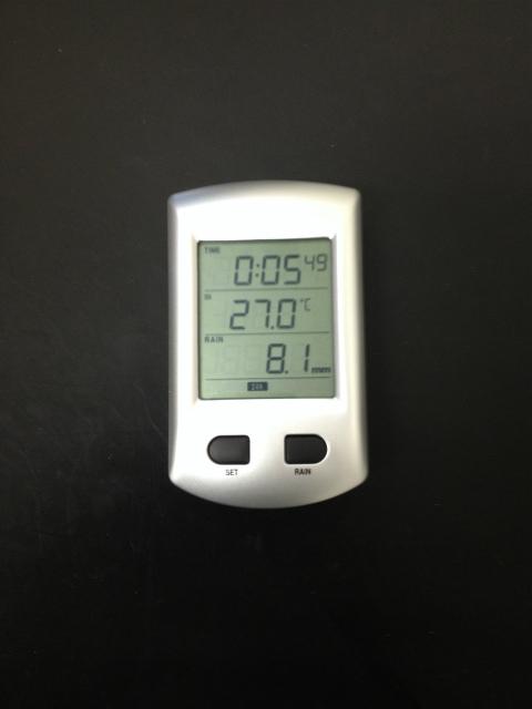 ワイヤレス雨量計